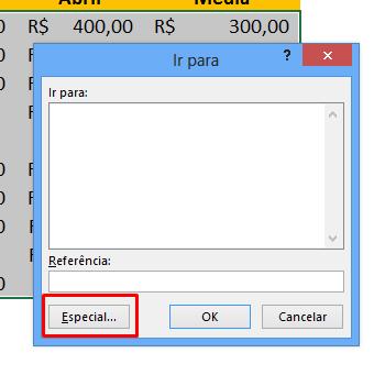 Especial para células em Branco Automaticamente no Excel