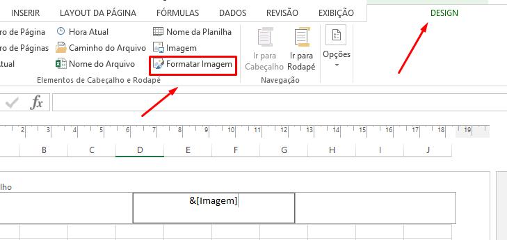 Formatar Imagem para inserir marca d'agua no Excel