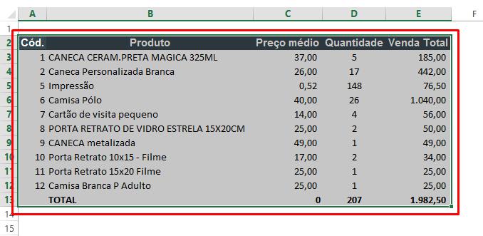 Selecionando planilha para salvar planilhas de Excel como imagem