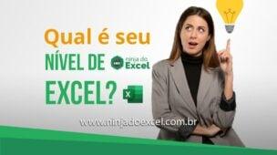 Teste de Excel Qual é Seu nível?
