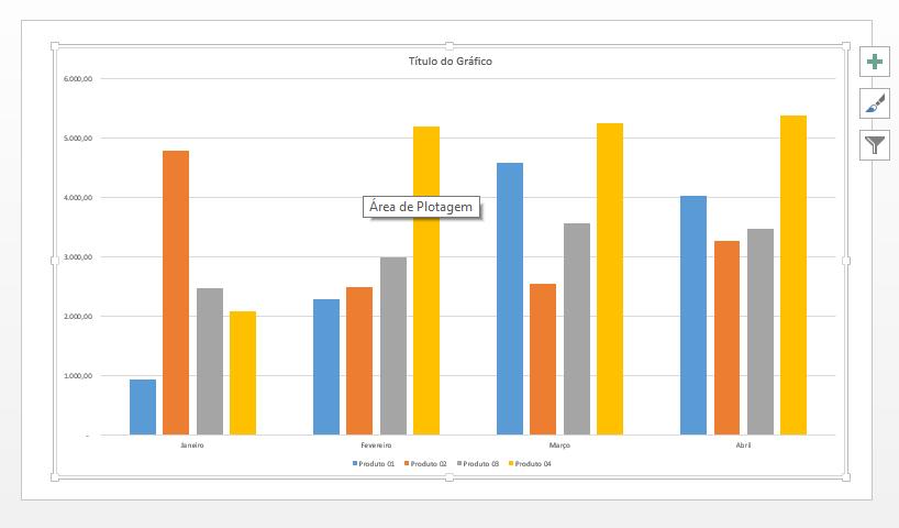 Ajustando Gráfico do Excel no PowerPoint