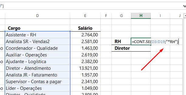 Caracteres Curinga no Excel ASTERISCO