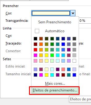Efeitos de preenchimento para imagem em um Comentário no Excel