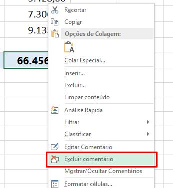 Excluir comentário no Excel 02