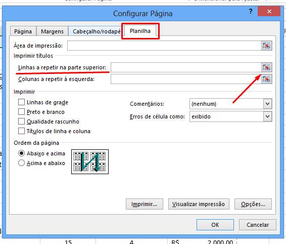Guia Planilha para Fixar cabeçalho no Excel