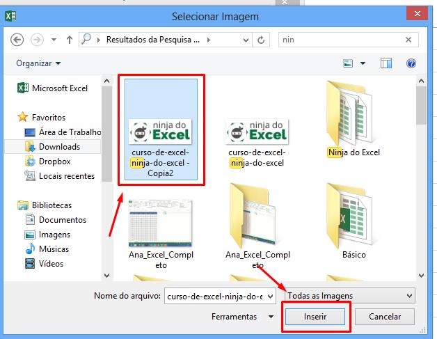 Inseir imagem em um Comentário no Excel