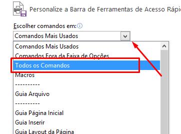 Todos os comandos da Barra de Acesso Rápido no Excel