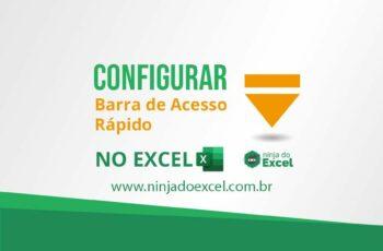 Configurar Barra de Acesso Rápido no Excel