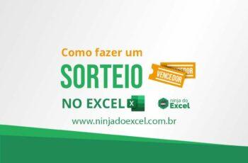 Sorteio no Excel – versão simples