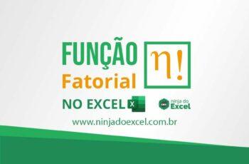 Função Fatorial no Excel