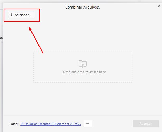 Adicionar para unir e Editar PDF