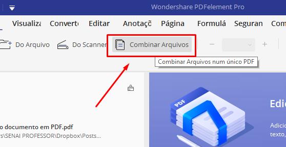 Combinar arquivos para unir e Editar PDF