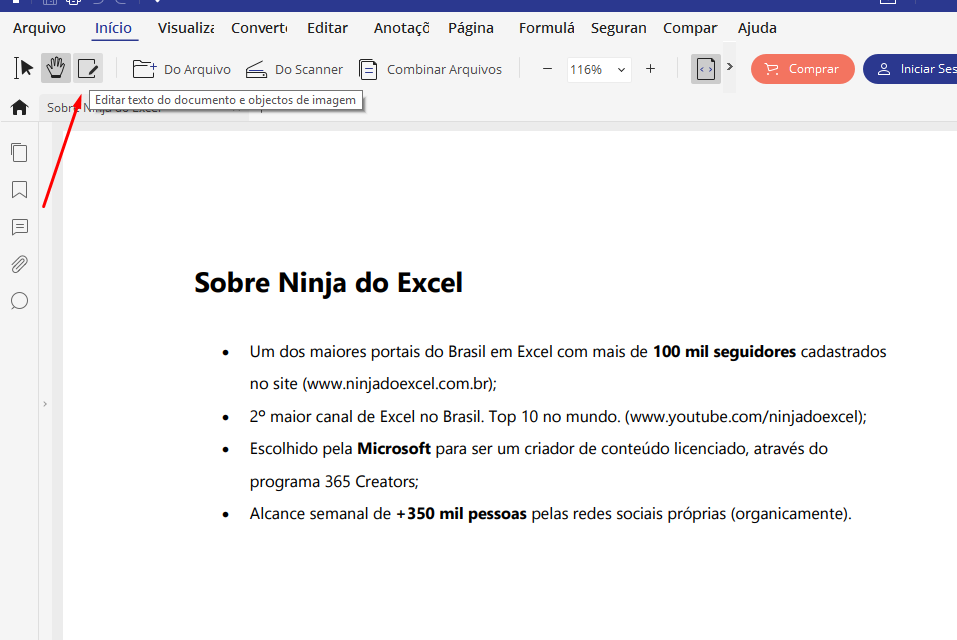 Editar Unir e Editar PDF