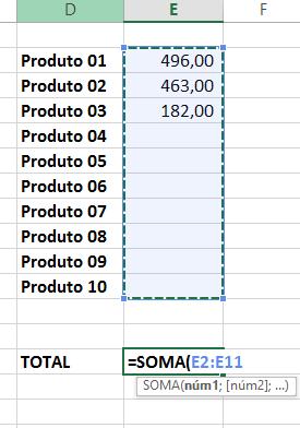 Fórmula para cálculo não está automático no Excel