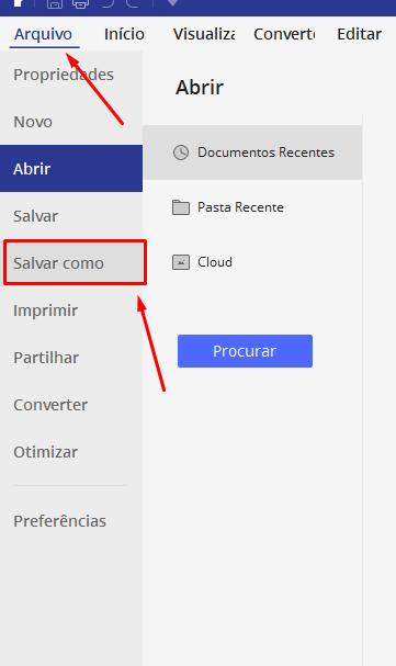 Salvar como para unir e Editar PDF