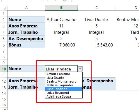 Validação da Função PROCH no Excel