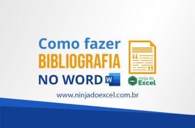 Como fazer bibliografia no Word