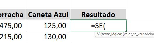 Abrindo segunda funções SE E e OU no Excel