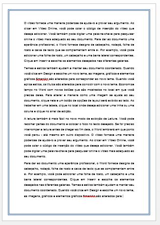 Bordas na Página no Word 1