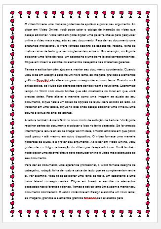 Bordas na Página no Word 2