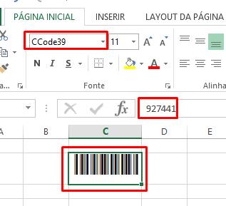 Código de Barras no Excel pronto