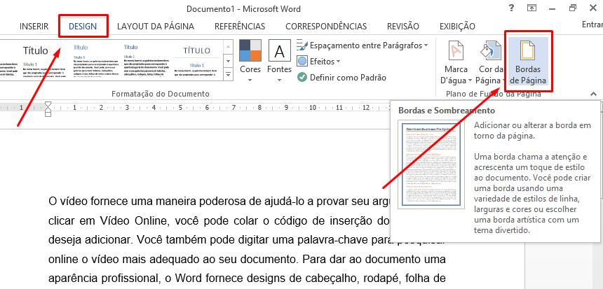 Guia design para Bordas na Página no Word