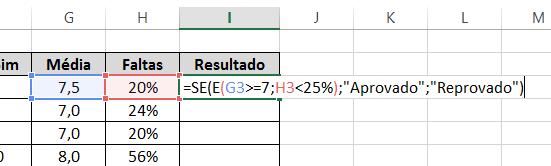Se Completa de funções SE E e OU no Excel