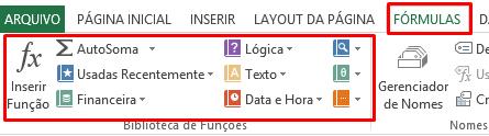 diferença entre Fórmulas x Funções no Excel