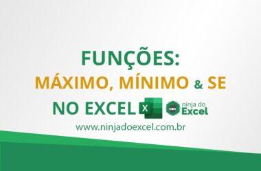 Funções MÁXIMO e SE no Excel