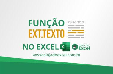 Função EXT.TEXTO no Excel