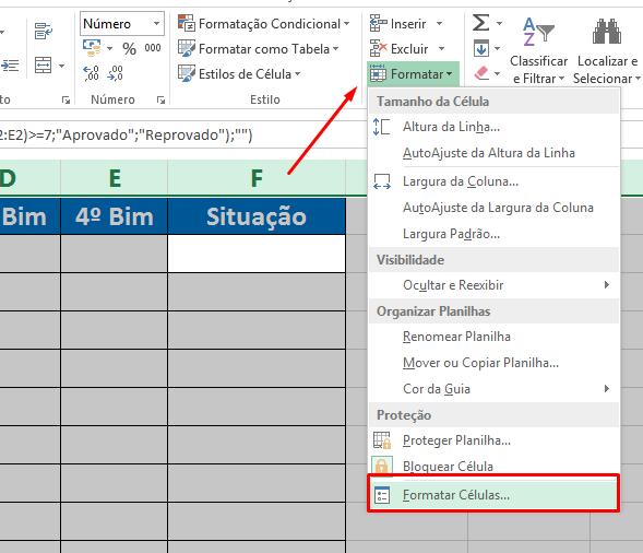Formatar célula para Esconder a fórmula no Excel