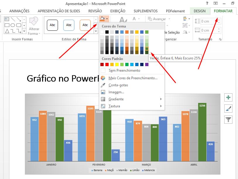 Formatar gráfico no PowerPoint