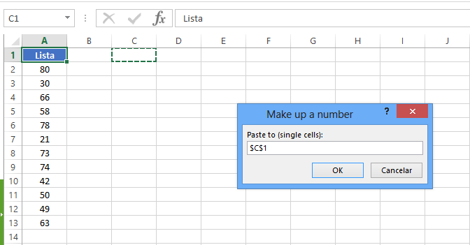 Make Up A number de combinação de soma no Excel