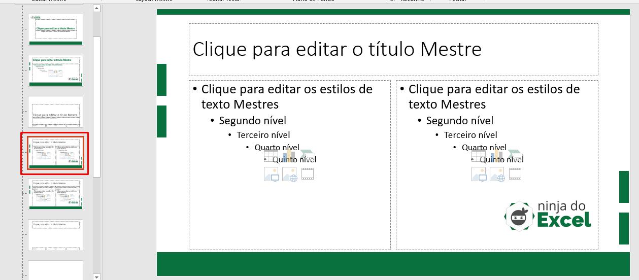 Terceiro Slide Mestre no PowerPoint