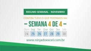 Ninja do Excel - Resumo semanal de Outubro