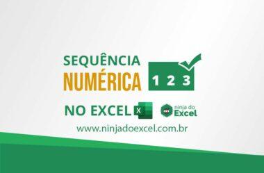 Criar uma sequência numérica no Excel