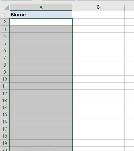 Dados apagados de função PRI.MAIÚSCULA no Excel
