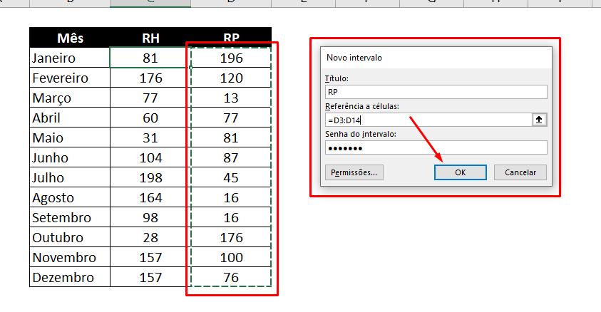 RP para PROTEGER Células Específicas no Excel