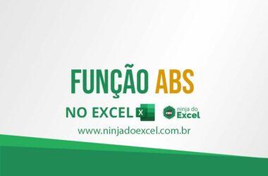 Função ABS no Excel