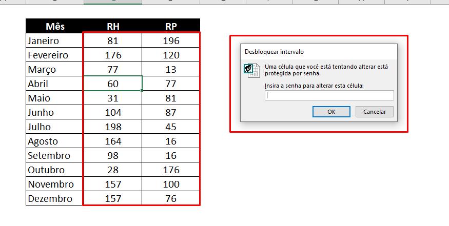 sem Permissão para PROTEGER Células Específicas no Excel