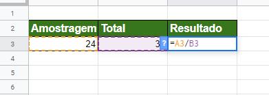 Calculando Porcentagem no Google Planilhas proporcional