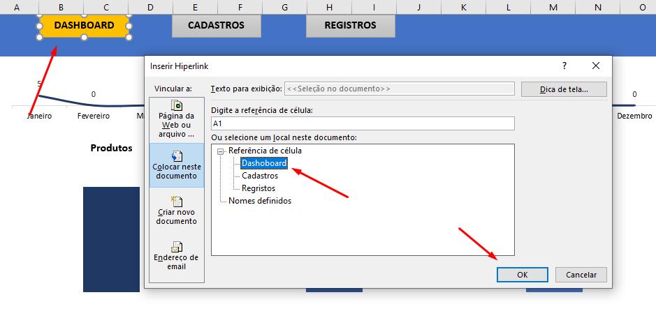 Colocando Hyperlink para Menu no Excel