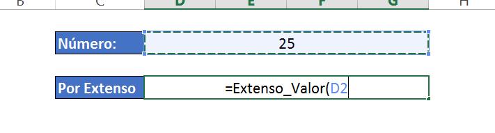Função para Números escritos por extenso no Excel