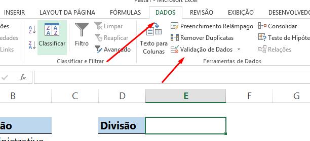 Inserindo Função DESLOC na validação de dados