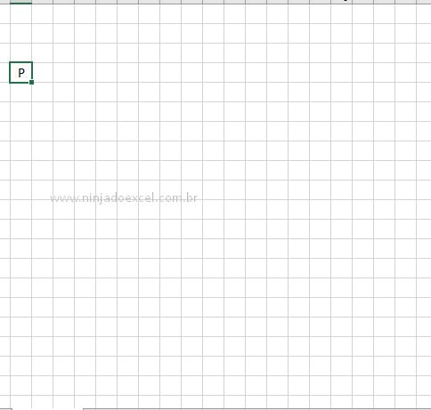 Primeira letra gerada para jogo de caça palavras no Excel