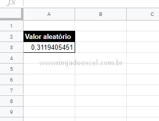 Resultado de aleatório para Valores Aleatórios no Google Planilhas