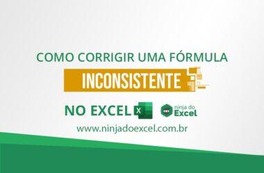 Corrigir uma fórmula inconsistente no Excel