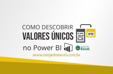 Como Descobrir Valores Únicos no Power BI