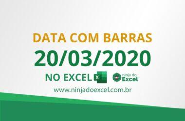 Data com Barras no Excel de Forma Automática