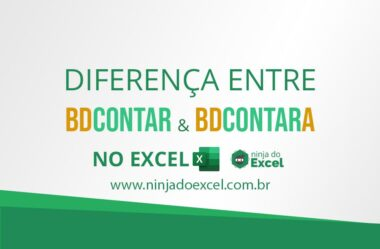 Diferença entre BDCONTAR & BDCONTARA